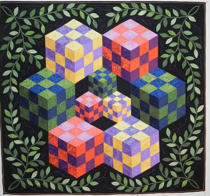Cube quilt by Brenda Shelby