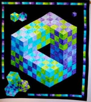 Patchwork Illusions quilt by Harriet Treynor