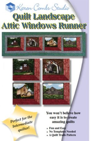 Quilt Landscape Attic Windows Runner